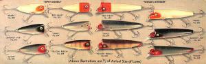 El Dorado AR Dipsy-Doodle Fishing Lures Brochure Linen 2-part Postcard