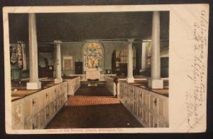 Interior of Old Swedes' Church, Wilmington, Del. 1906 The Central News Company