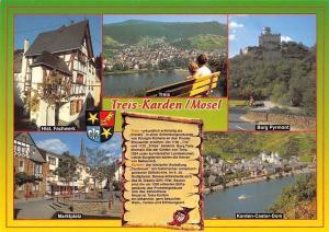 Treis-Karden Mosel, Marktplatz Burg Pyrmont, Karden-Caste-Dom Hist. Fachwerk
