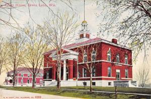 Green Lake Wisconsin Court House Street View Antique Postcard K63285