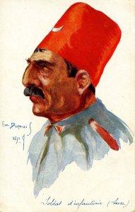 WWI - Toldat d'infantrie, Turk.  Artist: Em Dupuis