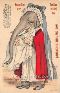 Advertising Postcard - Old Vintage Antique Grenadine DW Arrache Rhume DW, Ele...