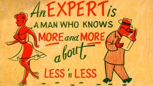 Comic - An EXPERT is a man who knows....  Made in Japan