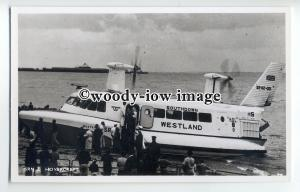 f0794 - Westland SRN 2 Hovercraft at Ryde , Isle of Wight - postcard by Nighs