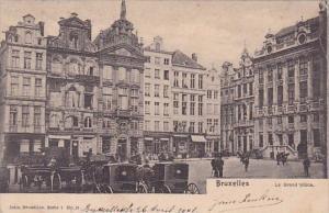 Belgium Brussel Bruxelles La Grand Place Market 1911