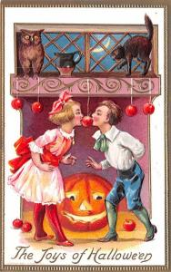 Halloween Post Card Old Vintage Antique Conwell Unused