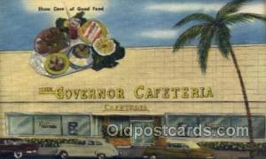 Miami Beach, FL USA The Governor Cafeteria  Old Vintage Antique Postcard Post...