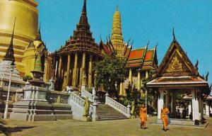 Thailand Bangkok View Of Wat Phra Keo