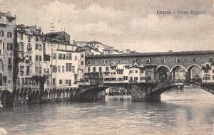 Italy Firenze - Ponte Vecchio 1922