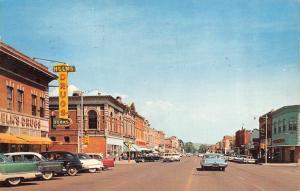 CANON CITY, CO Colorado  MAIN STREET SCENE~Helms Drugs 40's & 50's CARS Postcard