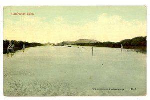 Panama - Canal Zone. Corozal, Completed Canal