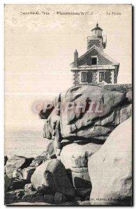 Old Postcard Ploumanac pm The Lighthouse