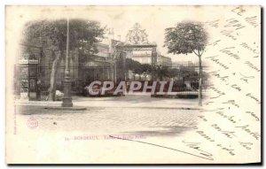 Old Postcard Bordeaux Entree Public Garden