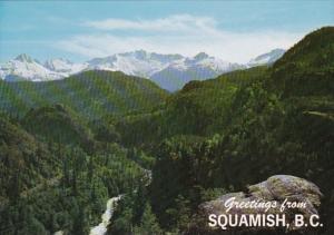 Canada British Columbia Greetings From Squamish Panorama