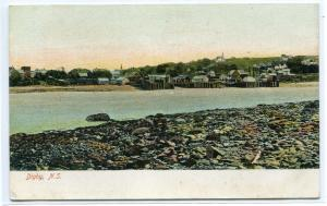 Panorama Digby Nova Scotia Canada 1910c postcard