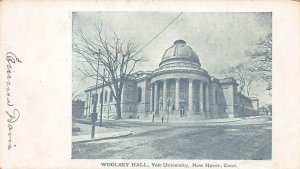 Woolsey Hall, Yale University, New Haven, Connecticut, Very Early Postcard, Used