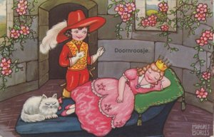 AS; BORISS PU-1933; SLEEPING BEAUTY, Prince arrives to awaken princess, cat
