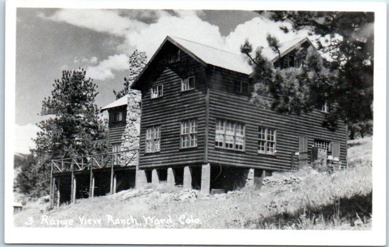 Ward, Colorado RPPC Real Photo Postcard Range View Ranch Cabin Lodge View