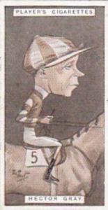Player Vintage Cigarette Card Racing Caricatures 1925 No 19 Hector Gray