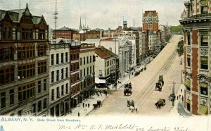 NY - Albany. State St from Broadway circa 1900    (Tuck)