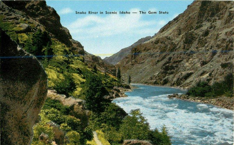Postcard Snake River in Scenic Idaho, The Gem State