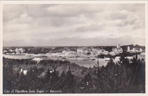 Bermuda City Of Hamilton From Paget Real Photo