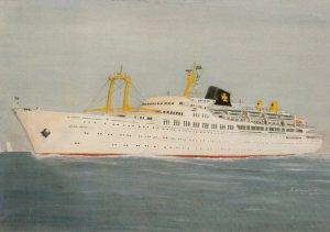 Ocean Liner/Steamer/Ship, N/M ANNA NERY, 1950-70s