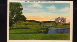 Virginia Postcard Farm Scene Wythe County