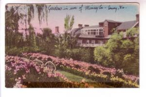 Handcolored, Gardens at The Mimslyn, Hotel of Distinction, Luray Virginia, Th...