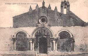 Italy Old Vintage Antique Post Card Siracusa Chiesa di S Giovanni delle Catac...