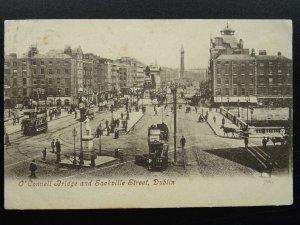 Ireland DUBLIN Sackville Street & O'Connell Bridge c1905 Postcard by Valentine