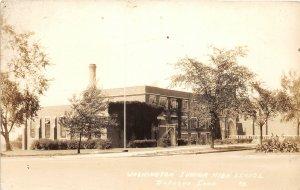 G27/ Dubuque Iowa RPPC Postcard 1938 Washington Junior High School