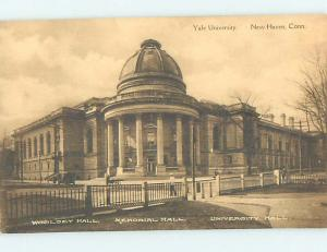 Unused Pre-Chrome WOOLSEY HALL AT YALE UNIVERSITY New Haven Connecticut CT L7303