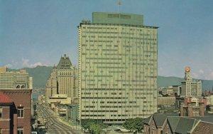 Burrard Street BC Electric Building Vancouver Canada 1960s Postcard