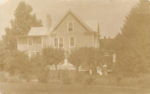 House With People Standing Out Front~111 Linden Avenue~Real Photo Postcard c1918