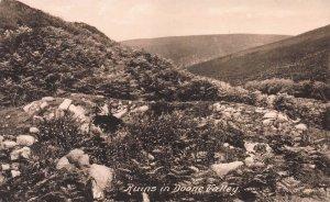Ruins in Doone Valley, Exmoor, England, Early Postcard, Unused