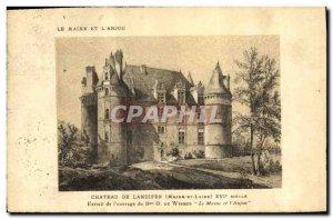 Old Postcard Chateau de landifer Maine and Anjou