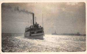 F37/ Interesting Real Photo RPPC Postcard c1910 Favorite Hudson River? Ship