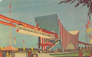 New York World's Fair 1964 Postcard AMF Monorail