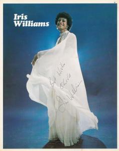 Iris Williams Vintage Large 10x8 Hand Signed Photo