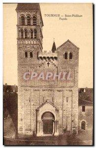 Old Postcard Tournus Saint Philibert Facade