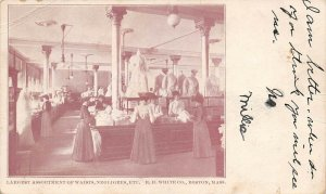 LPS71 Boston Massachusetts R. H. White Co.Waists Negligees Advertising Postcard