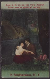 Couple In Woods Postcard
