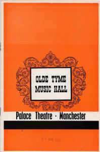 Hetty King The Good Old Days Manchester 1971 Theatre Programme