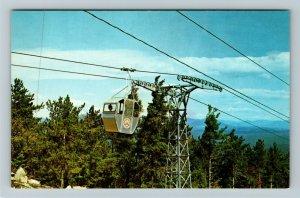 West Ossipee NH- New Hampshire, Mt. Whittier, Gondola, Chrome Postcard