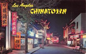 California Los Angeles, Chinatown, colorful night street scene, Far East