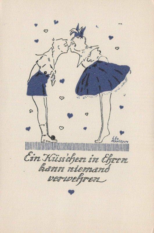 Artist Postcard - Leo Pernitsch - Leo Kind Kuss Kuenstler Kuenstlerkarte RS23719