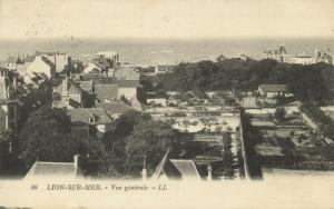 france, LION-SUR-MER, Vue Generale (1925) LL Stamp