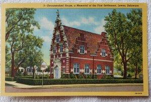 Vintage Linen Zwaanendael House, Lewes, Delaware. Curteich.