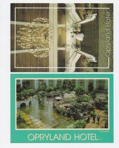 1990-1991 Set of 4 Opryland TN Postcards Unposted Nashville Tennessee
